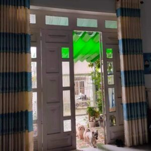 rèm vải nhà phố